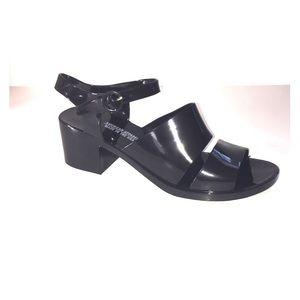 AMERICAN APPAREL black chunky heel sandal SZ 10